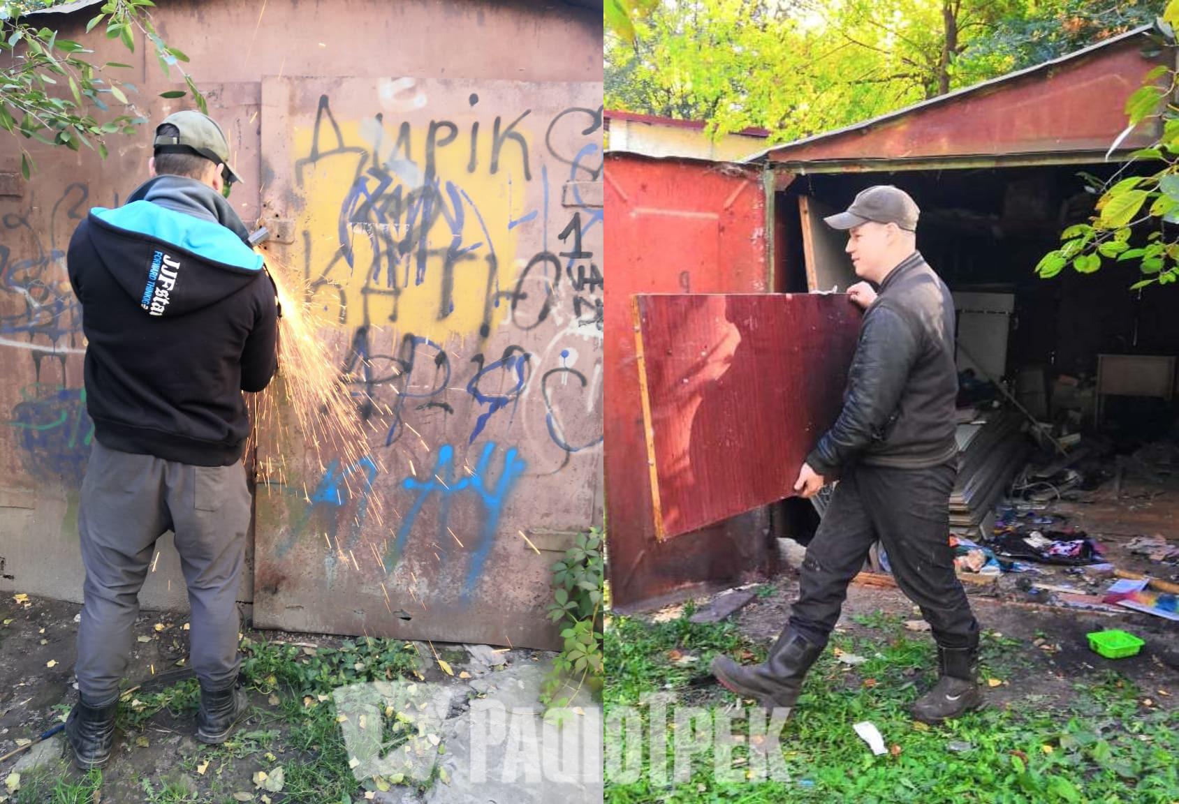 «Це створює суспільну небезпеку»: на проспекті у Рівному демонтували гаражі (ФОТО)