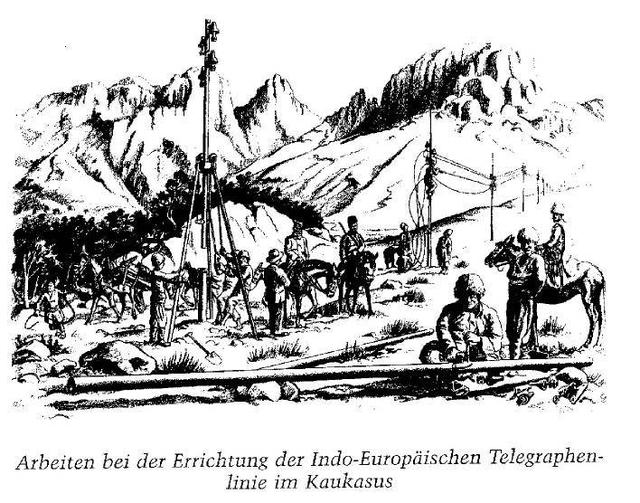 Будівництво Індоєвропейського телеграфу на Кавказі