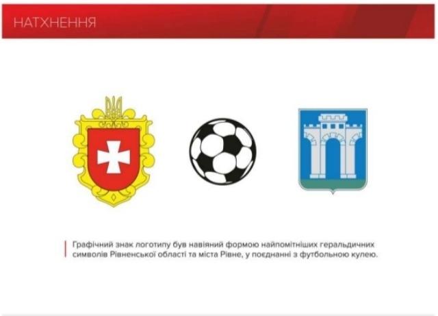 Поєднали графічно три елементи: герб області, герб міста та футбольний м'яч