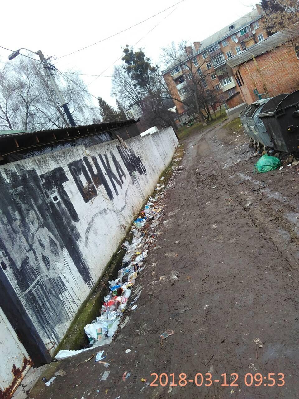 Так у березні виглядав сміттєвий майданчик на вулиці Степана Бандери